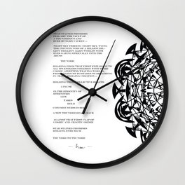 Thunder to Thunder | Poetry Art Design Wall Clock