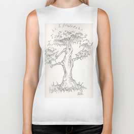Study of A Bonsai Palm Tree Biker Tank