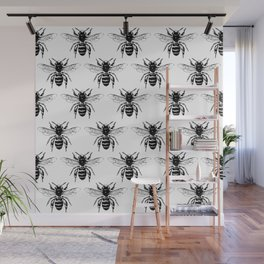 The Bee's Knees Black Wall Mural