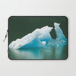 Blue Ice Swan Floating in Alaskan Waters Laptop Sleeve