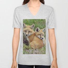 Fox Twins Unisex V-Neck