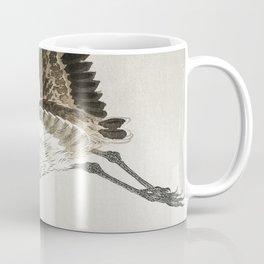 Ohara Koson, Flying Heron - Vintage Japanese Woodblock Print Coffee Mug