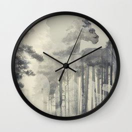 Like a Horse in the woods Wall Clock