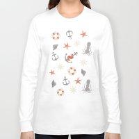 nautical Long Sleeve T-shirts featuring Nautical by Schwebewesen • Romina Lutz