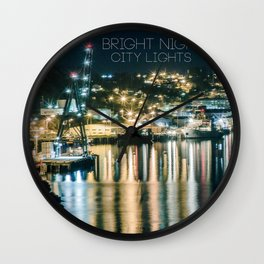 Bright Nights, City Lights Wall Clock