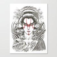 geisha Canvas Prints featuring Geisha by Demones