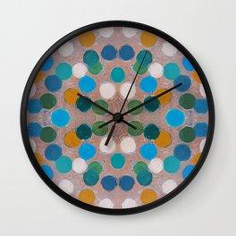Ochre Tangential Coterie Wall Clock