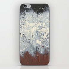 Cool Pollock Rothko Inspired Black White Red Abstract - Modern Art iPhone & iPod Skin