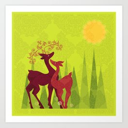 Forest Love Art Print