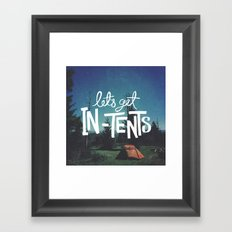 Let's Get In-Tents Framed Art Print