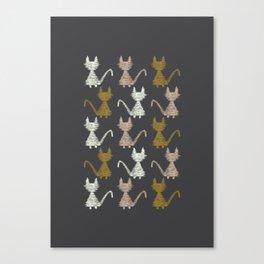 Cat pattern 2 Canvas Print