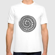 circle MEDIUM White Mens Fitted Tee