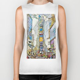 NYC Life in Times Square Biker Tank