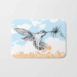 Butterflies print Bath Mat