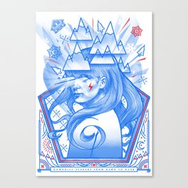 Downhill Seeker Canvas Print