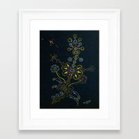 weed Framed Art Prints featuring Weed by by Steven