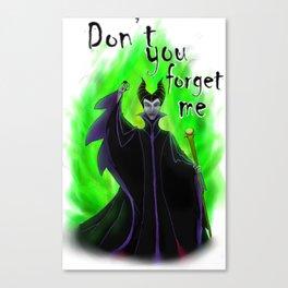 Maleficent Blurred Canvas Print