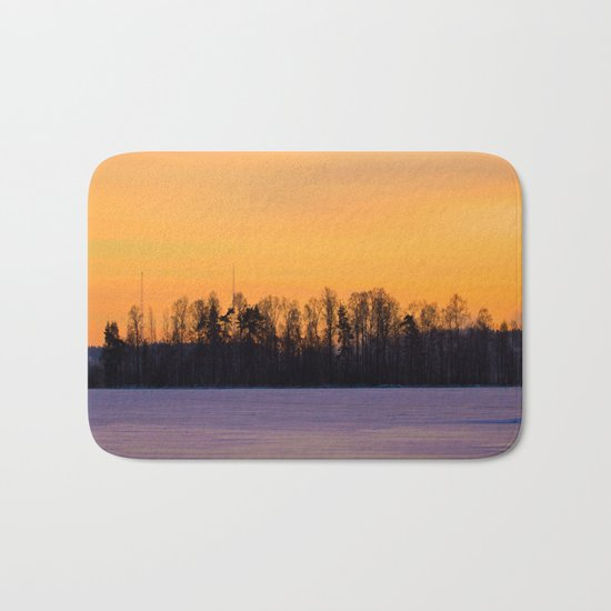 Tree Silhouettes Bath Mat