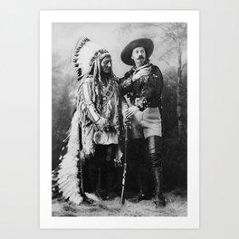 Sitting Bull and Buffalo Bill - 1897 Art Print