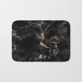 Chic abstract rose gold black elegant marble Bath Mat
