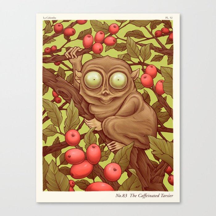 The Caffeinated Tarsier Canvas Print