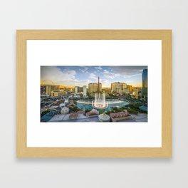 Las Vegas Strip featuring the Bellagio Fountain Framed Art Print