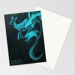 Always: [spectral deer] Alan Rickman tribute Stationery Cards