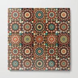 talavera mexican style pattern Metal Print