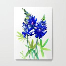 Texas Bluebonnet Flowers Metal Print