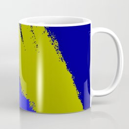 Blue Green Paint Coffee Mug