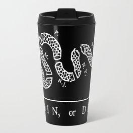 Join or die - white on black version Travel Mug