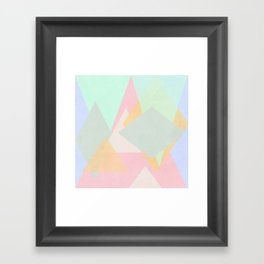 spring pastel abstract pattern design Framed Art Print