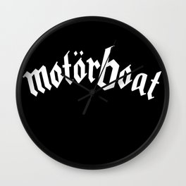 Motorboat Wall Clock