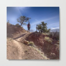 The Hiker Metal Print