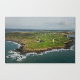 Aerial view of Carnsore Wind Farm Canvas Print