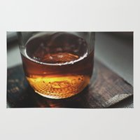 whiskey Area & Throw Rugs featuring Mason Whiskey by Stephen John Bryde