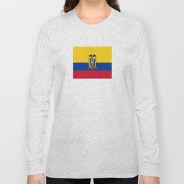 Flag of Ecuador -ecuadorian,Inca,Kichwa,Quito,america, South america,Spanish,Amazonia,latin america Long Sleeve T-shirt