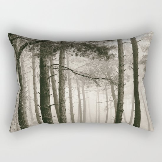 """Wandering"". Into the woods.... Rectangular Pillow"