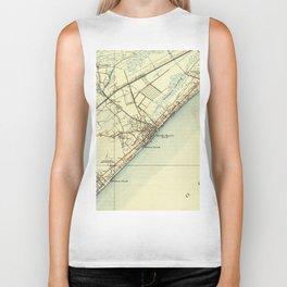 Vintage Map of Myrtle Beach South Carolina (1940) Biker Tank