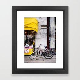 Bikes and shop Framed Art Print