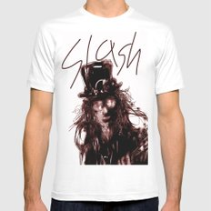 Slash White MEDIUM Mens Fitted Tee