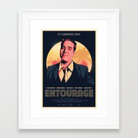 entourage Framed Art Prints featuring Entourage - Gameday Baby! by Scott McRoy