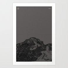 Nature / Winter Mountains Art Print