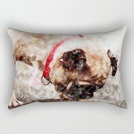 Thirsty Pug Rectangular Pillow