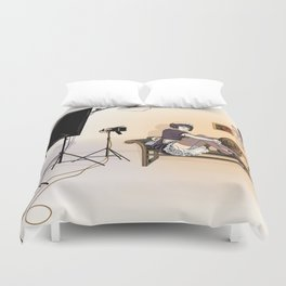 Studio Shoot (Maid Version) Duvet Cover