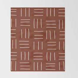 Rust Mudcloth Throw Blanket