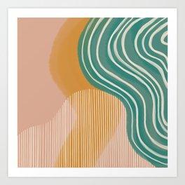 Morning Swim Art Print