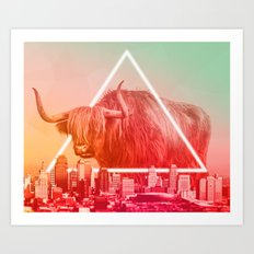 Moving to the city Art Print