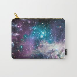 Lavender Teal Star Nursery Carry-All Pouch
