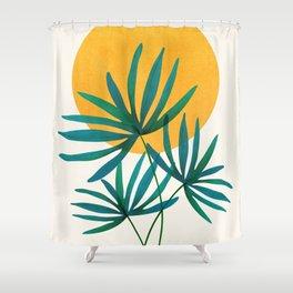 Little Palm + Sunshine Shower Curtain